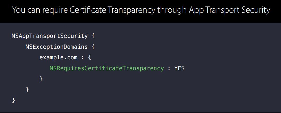支持CT证书透明度