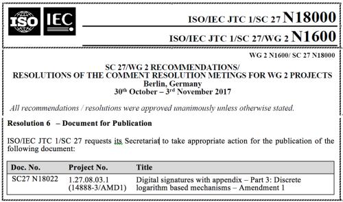 ISO/IEC 14888-3/AMD1