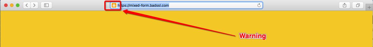 苹果Safari预览版HTTP安全警告1