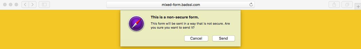 苹果Safari预览版HTTP安全警告2